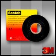 Cамослипающаяся  лента 3М Scotch 13  19мм х 4.5м.  Полупроводящая.