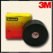 Изоляционная лента 3М Scotch 23   38мм.х9.1м.х0.76мм.  Самослипающаяся