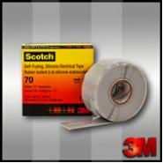 Изоляционная лента 3М Scotch 70  25мм.х9м.  Силиконовая,резиновая.
