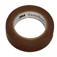 Изолента 3M Temflex 1300  15мм.х10мх0.13мм.  Коричневая
