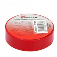 Изолента 3M Temflex 1300  19мм.х20м.х0.13мм. Красная