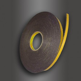 Двусторонняя клейкая лента 3М  9556В  12мм.х16.4м.х3мм.  Скотч временной фиксации.