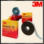 Изоляционная лента 3М Scotch 23  19мм.х9.1м.х0.76мм.   Высокоэластичная, самослипающаяся.