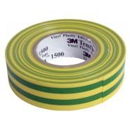 Изолента 3M™ Temflex 1300  19мм.х20м.х0.13мм. Желто-зеленая