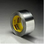 Односторонняя клейкая лента 3M 425  75мм.х55м.х0.12мм.  На основе алюминиевой фольги.