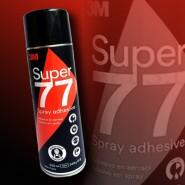 Аэрозольный клей 3M Spray Super  77. Клей-спрей.